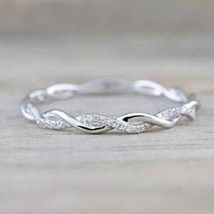 Twist Ring for Women Fashion 925 Sterling Silver